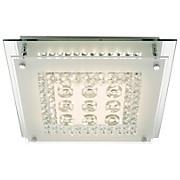 LED-Deckenleuchte 49362 - MODERN, Glas/Metall (30/30/6,5cm)