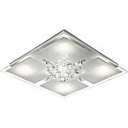 LED-Deckenleuchte Berthold - MODERN, Glas/Metall (35/35/8cm) - LUCA BESSONI