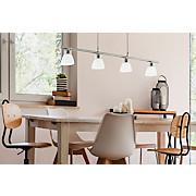 LED-hängeleuchte Borriol 1 - Weiß/Nickelfarben, MODERN, Kunststoff/Metall (70/6/110cm)