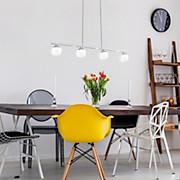 LED-hängeleuchte Borriol - Chromfarben, MODERN, Kunststoff/Metall (80/8/110cm)