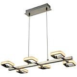LED-hängeleuchte Nero - Chromfarben, MODERN, Kunststoff/Metall (80/150/31cm)