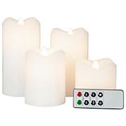 LED-kerzenset Ø 7,5 - Weiß, MODERN (7,5cm)