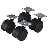 Lenkrollen 4 Stück - KONVENTIONELL, Kunststoff (4cm)