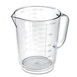 Messbecher 1 Liter - Klar, KONVENTIONELL, Kunststoff (11.5/14.2cm)