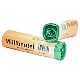 Müllsack 30 L - 15 Stück - Grün, KONVENTIONELL, Kunststoff (4/14cm)