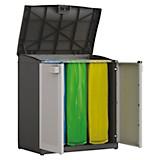Müllsackständer Kunststoff Logico Recycling - Hellgrau/Schwarz, KONVENTIONELL, Kunststoff (90/100/55cm)