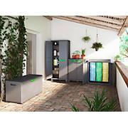 Müllsackständer Moby Recycling 90/100/55 - Anthrazit, MODERN, Kunststoff (90/100/55cm)