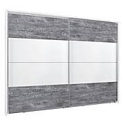 Ormar S Kliznim Vratima Lissabon - bijela/siva, Konvencionalno, drvni materijal/metal (270/210/62cm) - MODERN LIVING