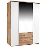 Ormar Za Odjeću New York A - bijela/boje hrasta, Konvencionalno, drvni materijal/drvo (180/234/58cm) - OMBRA