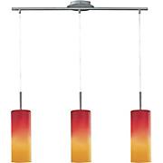 Pendelleuchte Troy 1 - Rot/Orange, MODERN, Glas/Metall (72/10,5/110cm)
