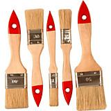 Pinselset 5-teilig - KONVENTIONELL, Holz/Weitere Naturmaterialien (18.19cm) - GEBOL