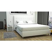 Polsterbett Capri - Schwarz/Weiß, MODERN, Holz/Textil (193/120/212cm)