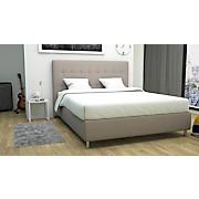 Polsterbett Capri - Taupe/Schwarz, MODERN, Holz/Textil (173/120/212cm)