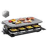 Raclette-Grill Hot Stone - Schwarz/Grau, MODERN, Kunststoff/Stein (45,5/27/15,5cm)