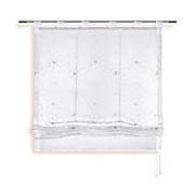 Raffrollo Hanka - Taupe/Weiß, KONVENTIONELL, Textil (100/150cm) - OMBRA