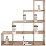 Raumteiler Pisa 4 - Eichefarben, MODERN, Holz (149/150/35cm)