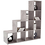 Raumteiler Pisa 4 - Schwarz, MODERN, Holz (149/150/35cm)