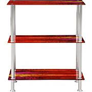 Regal Glare - Edelstahlfarben/Multicolor, MODERN, Glas/Metall (60/70/30cm) - LUCA BESSONI