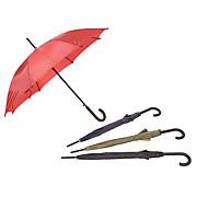 Regenschirm Charlton - Blau/Rot, KONVENTIONELL, Holz/Kunststoff (100cm) - OMBRA