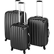 Reisekofferset Barcelona - Schwarz, KONVENTIONELL, Kunststoff/Textil - LUCA BESSONI
