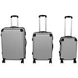 Reisekofferset Roma - Silberfarben, KONVENTIONELL, Kunststoff/Metall - LUCA BESSONI