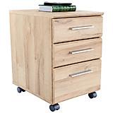Rollcontainer Mindi - Eichefarben, MODERN, Holzwerkstoff/Kunststoff (40,8/54,8/41,3cm)