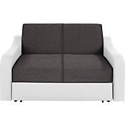 Rozkládací Pohovka Max - bílá/šedá, Konvenční, kov/textil (160/75/100cm)