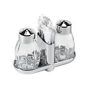 Salz- und Pfefferstreuer Salz/pfeffer - Silbereichenfarben, KONVENTIONELL, Glas/Metall (8cm)