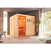 Sauna Cannes mit externer Steuerung - Naturfarben, MODERN, Holz (196/198/196cm)