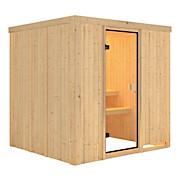 Sauna Cassis mit Interner Steuerung Am Ofen - Naturfarben, MODERN, Holz (196/198/196cm)