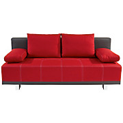 Schlafsofa Laser 2 - Rot/Grau, MODERN, Holz/Textil (193/90/88cm)