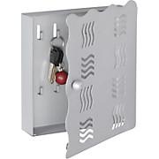 Schlüsselkasten Welle - Alufarben, MODERN, Metall (22/24/4,50cm)