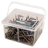 Schrauben-/dübelsortimentsbox In Tragebox - Zinkfarben, KONVENTIONELL, Metall (0,93kg)