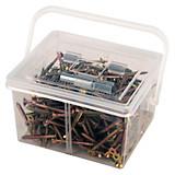 Schrauben-/dübelsortimentsbox In Tragebox - Zinkfarben, KONVENTIONELL, Metall (1,07kg)