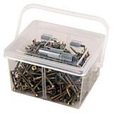 Schrauben-/dübelsortimentsbox In Tragebox - Zinkfarben, KONVENTIONELL, Metall (0,9kg)