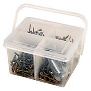 Schraubensortiment In Tragebox 385 Stück - Zinkfarben, KONVENTIONELL, Metall (0,93kg)