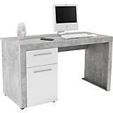 Schreibtisch Focus - Weiß/Grau, MODERN, Holz (148,9/75,5/60cm)