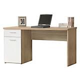 Schreibtisch Net 106 - Weiß/Sonoma Eiche, MODERN, Holzwerkstoff/Kunststoff (140/76,5/60cm)