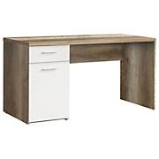 Schreibtisch Net - Eichefarben/Weiß, MODERN, Holz (140/76,5/60cm)