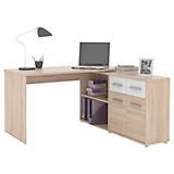 Schreibtisch Raf 12 - Eichefarben/Weiß, MODERN, Holzwerkstoff (138/74.6/142.4cm)