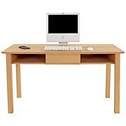 Schreibtisch Stockholm - Eichefarben, MODERN, Holzwerkstoff (140/75/65cm)