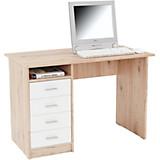 Schreibtisch Verona - Eichefarben/Weiß, MODERN, Holzwerkstoff (105/74/50,5cm)