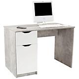 Schreibtisch West 1 - Weiß/Grau, MODERN, Holzwerkstoff (116,4/76/60cm)