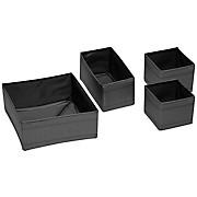 Schubladenbox Elena - Schwarz, KONVENTIONELL, Kunststoff