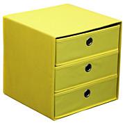 Schubladenbox Lisa - Gelb, MODERN, Karton/Textil (32/32/32cm)