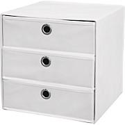 Schubladenbox Lisa - Weiß, MODERN, Textil/Metall (32/32/32cm)