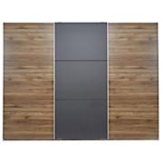 Schwebetürenschrank Dandy - Nussbaumfarben/Schwarz, MODERN, Holzwerkstoff (270/211/61cm)