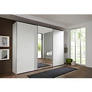Schwebetürenschrank Ernie 270 cm Alpinweiß - Weiß, MODERN, Glas/Holzwerkstoff (270/210/65cm)