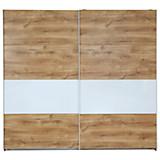 Schwebetürenschrank Roberto - Eichefarben/Weiß, MODERN, Holzwerkstoff (225/210/65cm)
