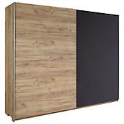 Schwebetürenschrank Terra - Taupe/Eichefarben, MODERN, Holzwerkstoff (250/210/62cm)